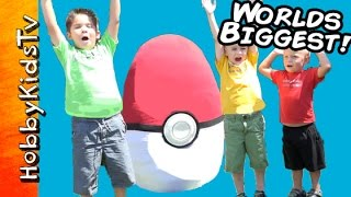 Worlds Biggest Pokemon Themed Surprise Egg HobbyKidsTV