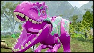 LEGO Jurassic World - BARNEY & R2D2!