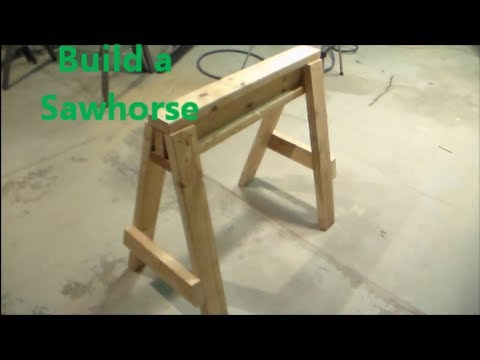 How To Build a Saw Horse - YouTube