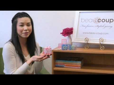 Plastic Baby Block Favor Boxes