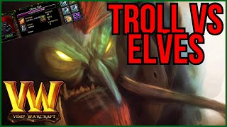 Troll and Elves x4 in Warcraft | Do I Have Time To Rebuild Base?!