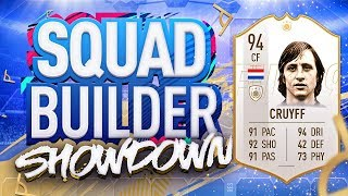 FIFA 19 SQUAD BUILDER SHOWDOWN!!! NEW PRIME ICON CRUYFF!!! 94 Rated Johan Cruyff vs Castro