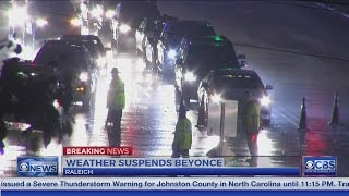Weather and traffic cause problems at Raleigh Beyoncé concert