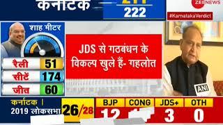 Karnataka elections 2018 Breaking: Ashok Gehlot hints at possibility of Congress-JD-S partnership