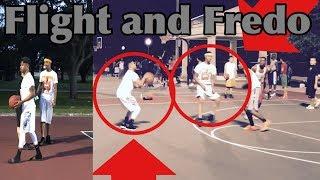 PrettyBoyFredo and FlightReacts Playing Pickup Basketball 5v5 At The Park