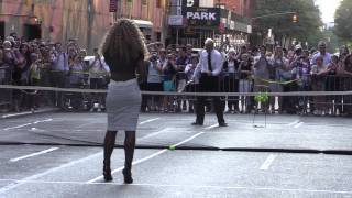 David Letterman and  Serena Williams (Tennis Match)