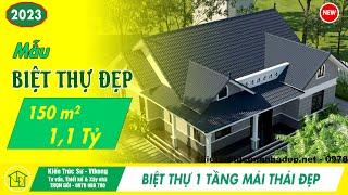 Mẫu nhà đẹp 1 tầng mái thái tại Đà Nẵng DBT1T51