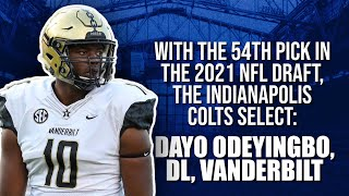 Indianapolis Colts Select DL Dayo Odeyingbo At Pick 54