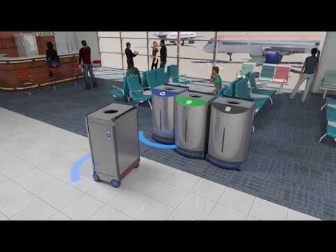 Trash Can in Airport using SLAM, AI, CV, and ML