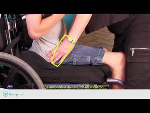Bodypoint | How to Find the Position for a Wheelchair Hip Belt - Spanish