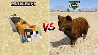 MINECRAFT CAT VS GTA 5 CAT - WHO IS BEST?