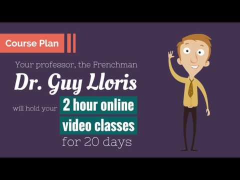 Online language course advertisement Video - Animated Style.