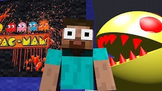 Monster School : HORROR PACMAN & MINION RUSH Challenge - Minecraft Animation