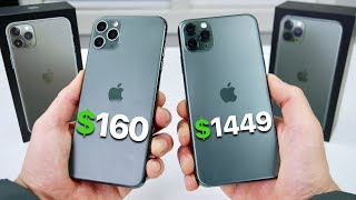 $160 Fake iPhone 11 Pro Max vs $1,449 11 Pro Max! (NEW)
