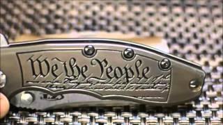 Custom Titanium handles for Zero Tolerance 0562, We the People!