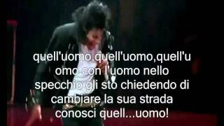 Michael Jackson man in the mirror (sub-ita) traduzione italiana hd