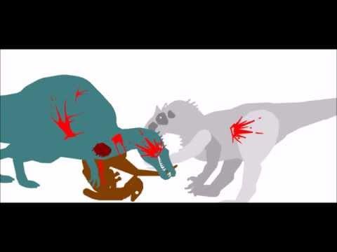 Spinosaurus vs t Rex Drawing Spinosaurus vs Indominus Rex