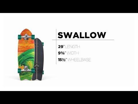 Video CARVER Surfskate C7 SWALLOW 29.5