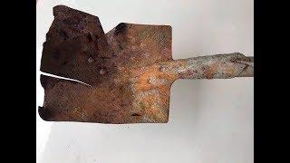 Antique shovel restoration | Restoration shovel old | Restore of build tool
