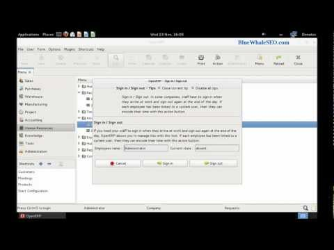 OpenERP 6 GTK Client on Linux Fedora 16 - First Steps after Installation