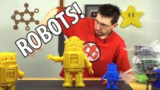 Printing Robots! #3dprinting the Fab 365 Foldable Robot!