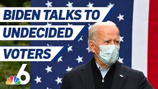 Joe Biden Talks to Undecided Voters in NBC News Town Hall