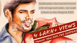Balabhaskar who touched hearts with strings and smile.. my small tribute to this #legend #RIP