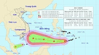 Tin bão mới nhất: Tin bão gần Biển Đông và Áp thấp nhiệt đới