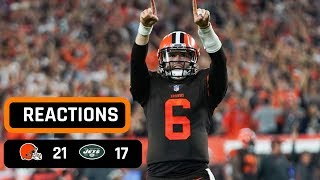 Cleveland Browns vs New York Jets Week 3 Thursday Night Football Recap | BAKER MAYFIELD DEBUTS!