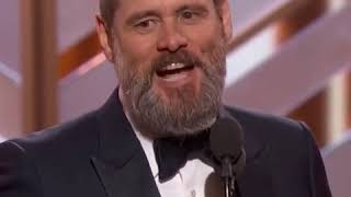 Jim carrey gives speech with a hidden message