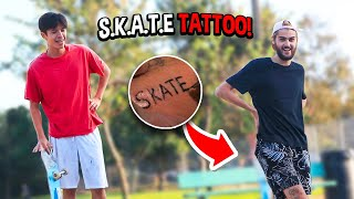 Game of S.K.A.T.E but LOSER Gets A TATTOO...