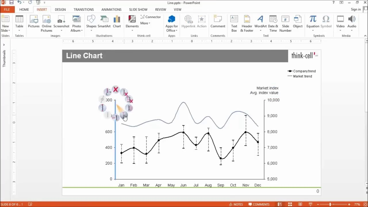 Features :: Charting, Excel data links and slide layout :: think-cell