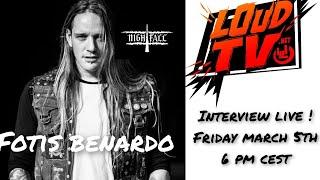 Exclusive live interview with Fotis Benardo from NIGHTFALL