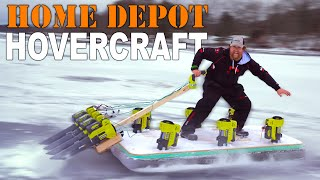 Home Depot Hovercraft Build / Leaf blower hovercraft