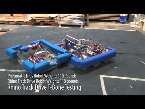 Rhino Track Drive T-Bone Testing