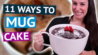 11 EASY Mug Cake Recipes USING ONLY a Microwave ☕🎂
