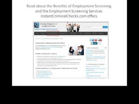Screening Intelligence Background Checks New Website