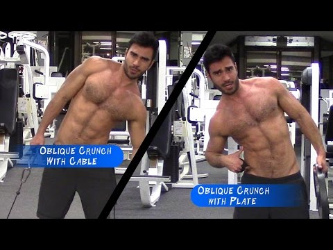 Oblique Crunches with Plate | V Shaped Abs