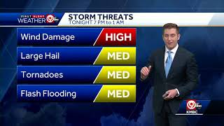 First Alert: Severe weather possible Wednesday evening