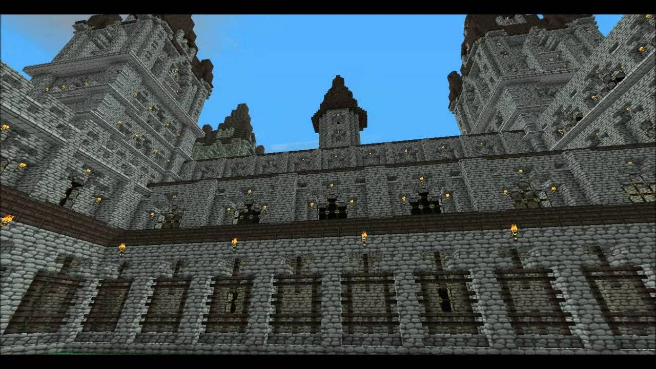 Hogwarts castle download minecraft - YouTube