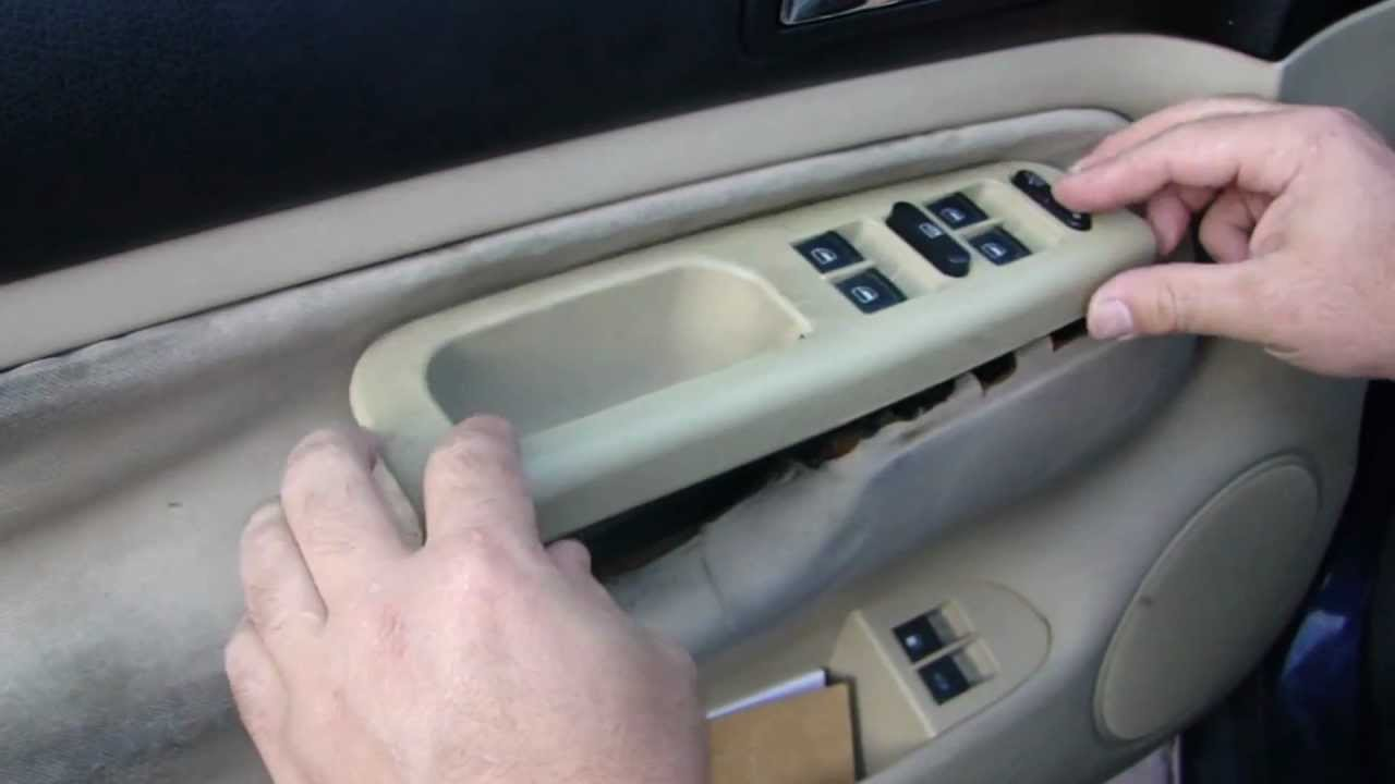 Golf And Jetta Mk4 Window Switch Removal And Install Youtube