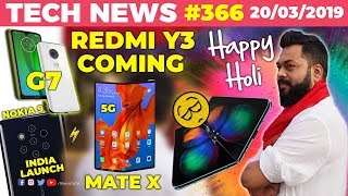 Redmi Y3 Coming Soon, Nokia 9 India launch, Mate X 5G in India, Mi Band 4, Moto G7 on Mar 25-TTN#366