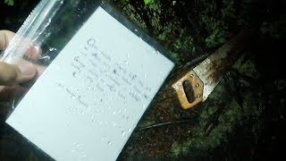 POSSIBLE MURDER WEAPON w/ NOTE FOUND UNDERWATER IN LAKE (I WAS SET UP)