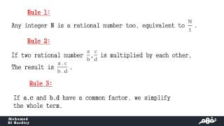 Multiplying of rational numbers - نفهم