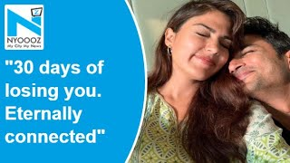 Rhea Chakraborty pens emotional note for Sushant Singh Raj..
