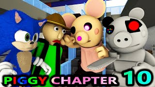 PIGGY CHAPTER 10 vs BALDI & SONIC! ROBLOX SPEEDRUNNER CHALLENGE! BOOK horror Minecraft Animation
