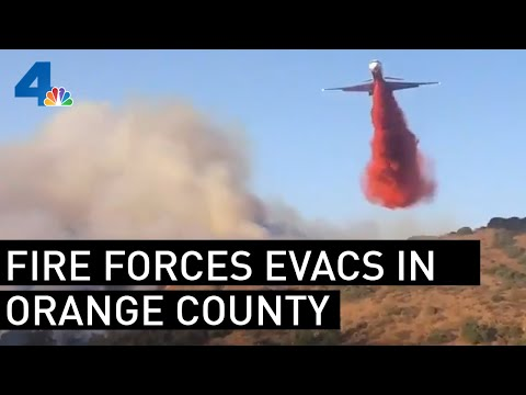 Residents Evacuated Due to Fire in Eastern Orange County | NBCLA