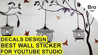 How to Stick a Wall sticker On Your Wall in 5 Minutes? (wall decals)Easy DIY