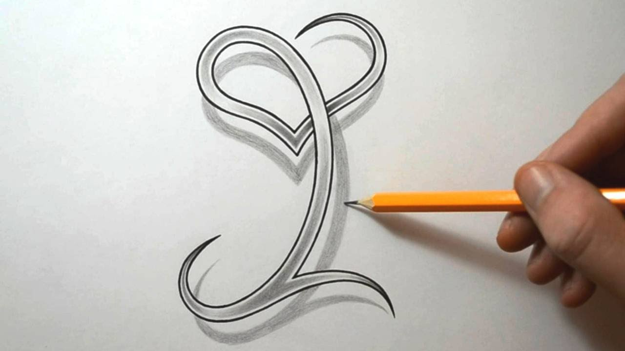 drawing the letter i with a heart combined youtube