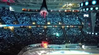 San Jose Sharks Game 3 Pre-Game Light Show